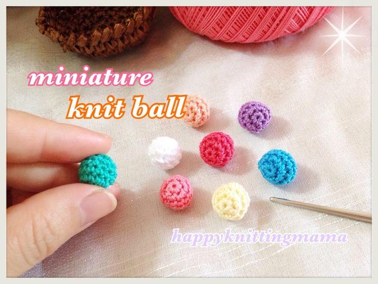 コロコロ可愛いサイズのミニチュアニットボールの編み方(レース糸使用)☆ハンドメイドパーツに♪ - YouTube