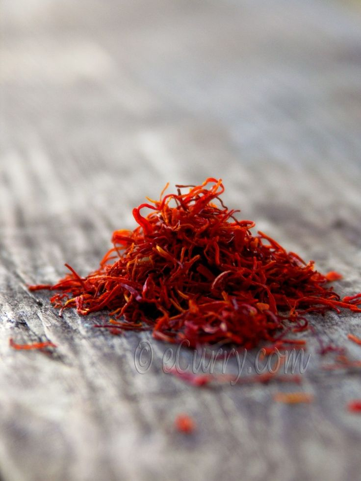 The king of spices! That is what I think…  This is probably the most expensive spice. Looking like tiny orange threads, these are actually the stigmas of a flower called crocus.  Saffron adds beautiful flavor and color to rice dishes, gravies and desserts.