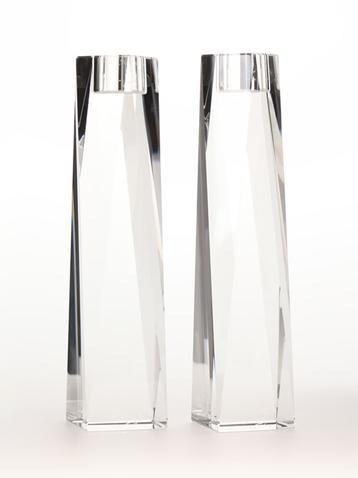 "OLEG CASSINI (Set of Two) 8"" Candle Holders"