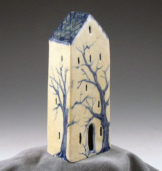 Pottery house with tree