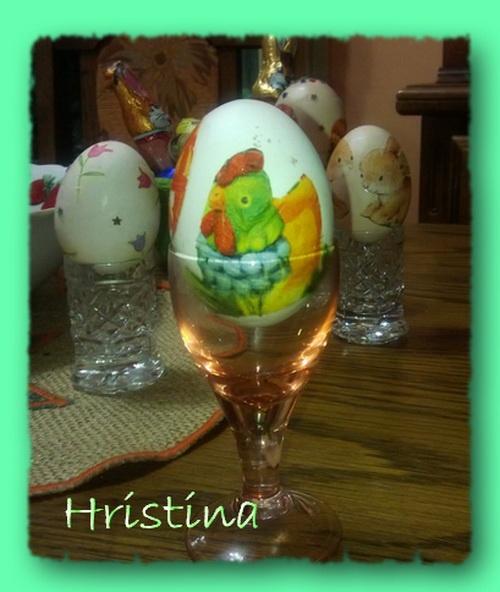 decoupaged egg, by Hristina