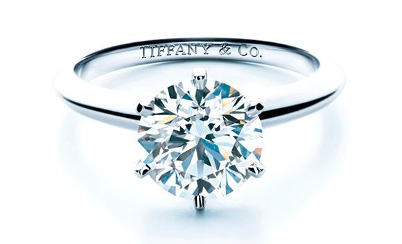 Tiffany & Co.: Simple Solitaire Diamond Ring