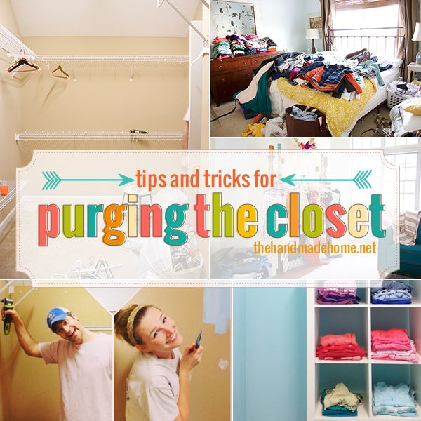 tips and tricks for purging the closet | the handmade home