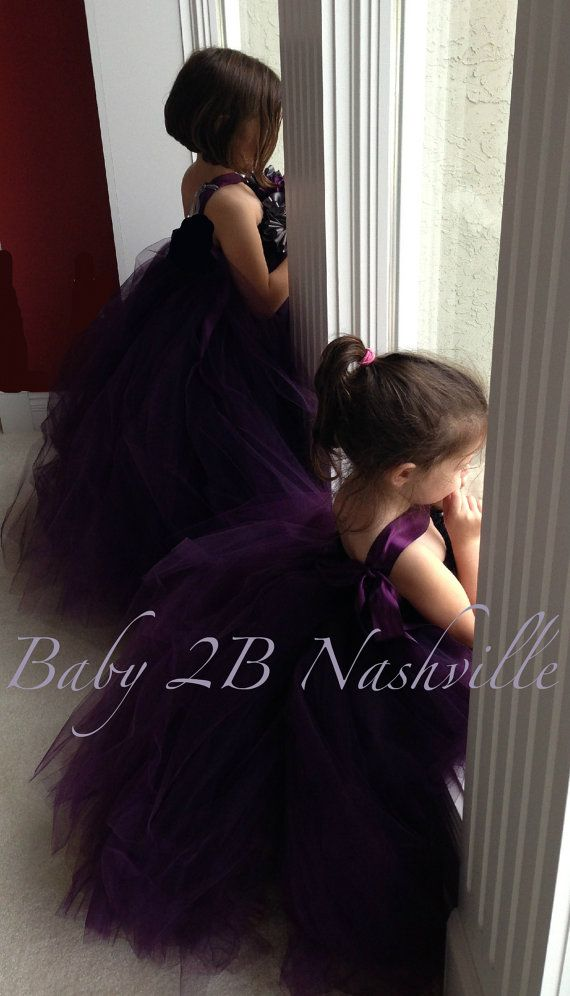 Wedding Flower Girl  Dress tutu dress tulle by Baby2BNashville, $95.00