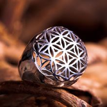 The whole universe in one jewel! The Flower of life ring is excellent for healing & helps one to connect to the higher self. The flower of life shape contains a secret -it consists of 13 spheres that hold many mathematical and geometrical laws. Giving the flower of life to someone is like giving them the whole universe in one jewel. Size: 2.1cm/2.1cm - 0.8Inch/0.8Inch Metal: Solid Sterling Silver 925 Price:$118 Click on image to order.