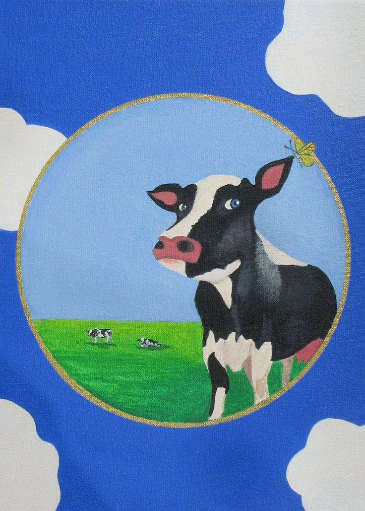 Schilderij koe