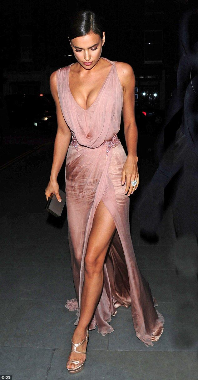 Standing by her man: Irina put on quite the display as she arrived on Thursday to support Bradley during a performance of Elephant Man in London