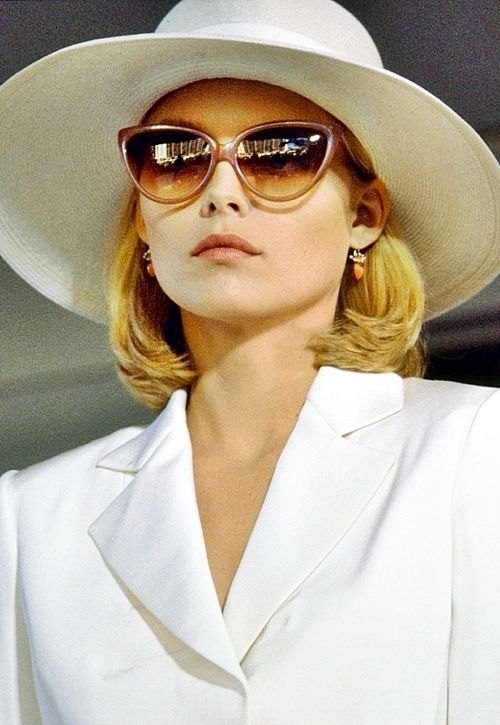 She is so swank in this film.    Michelle Pfeiffer in Scarface, 1983