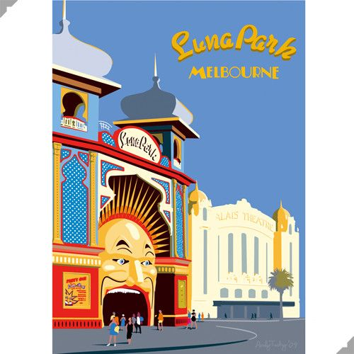 Luna Park, Melbourne Print – Andy Tuohy Design