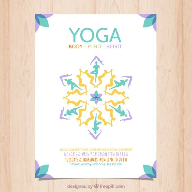 Abstract yoga poster Free Vector