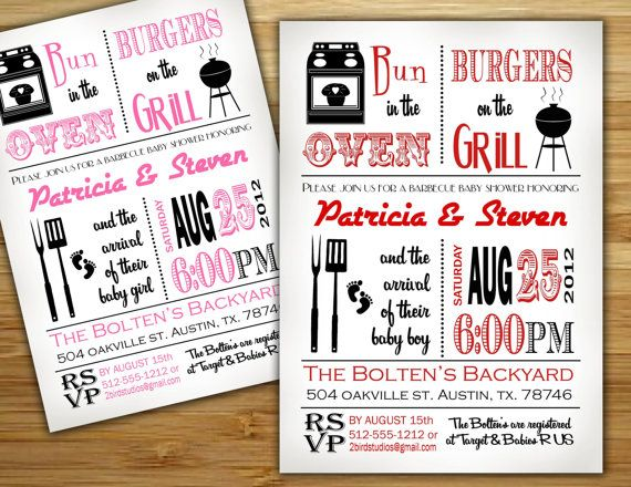 Baby Shower Invitation   Boy Baby Shower BBQ Barbecue Invite  DIY Baby Q  Barbecue Couples Shower Printable Invite