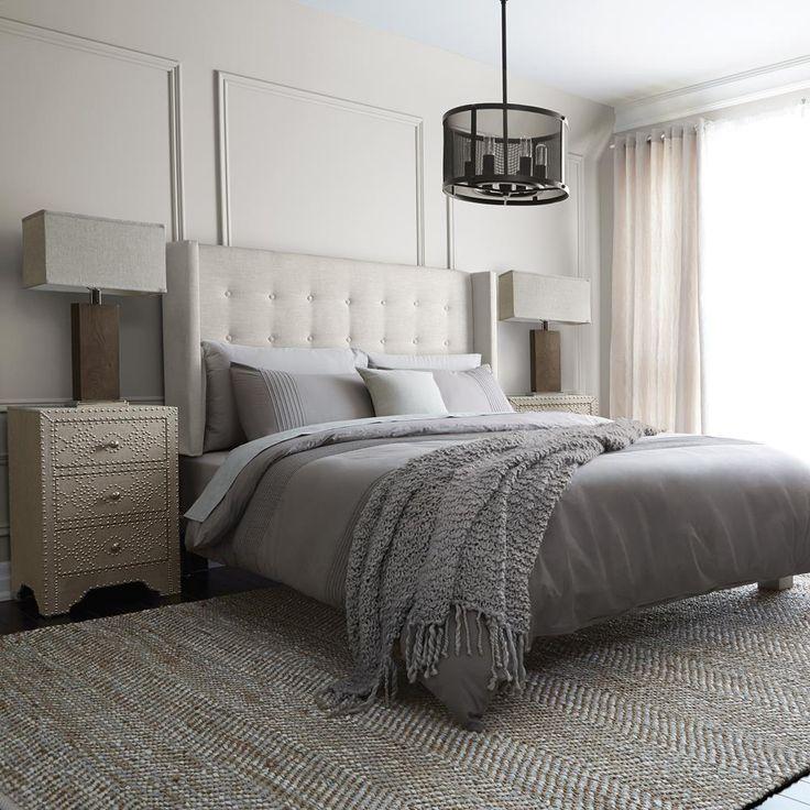 Atelier - Trésors retrouvés - Tête de lit capitonnée en tissu - grand lit/LITS ET TÊTES DE LIT/MAGASINEZ PAR PRODUIT/ATELIER BOUCLAIR Bouclair.com