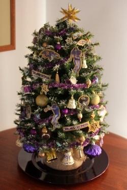 Baltimore Ravens Christmas tree
