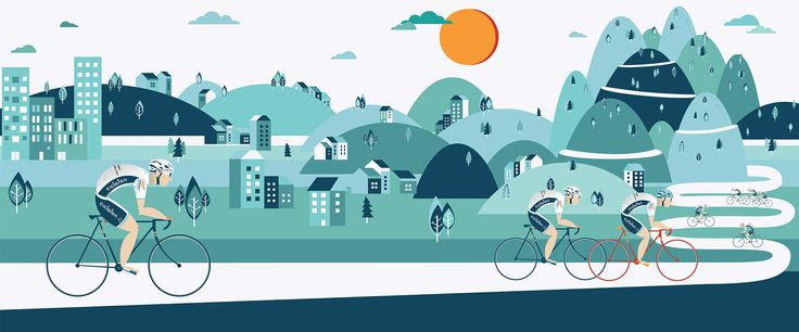Illustration made for charity bike event Ciclaton