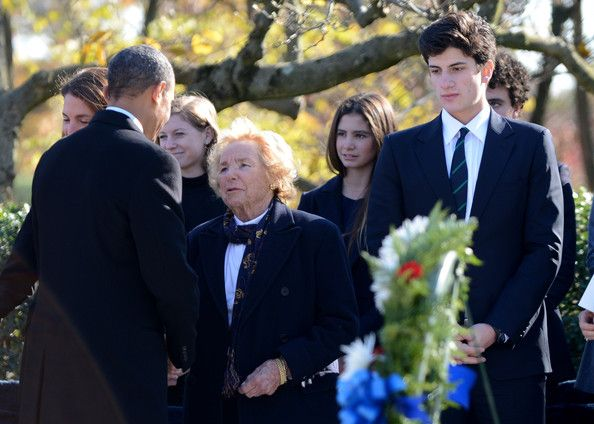 John Schlossberg in Barack Obama Lays Wreath at Kennedy's Grave Site