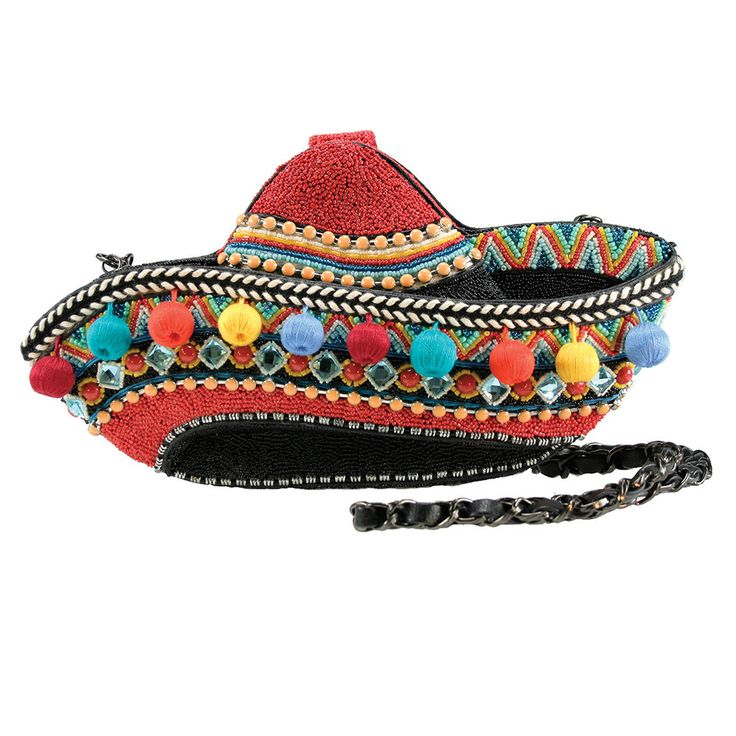 Mary Frances Ole Festive Hat Sombrero Handbag Bag Beaded Summer 2016 NEW #MaryFrances #EveningBag