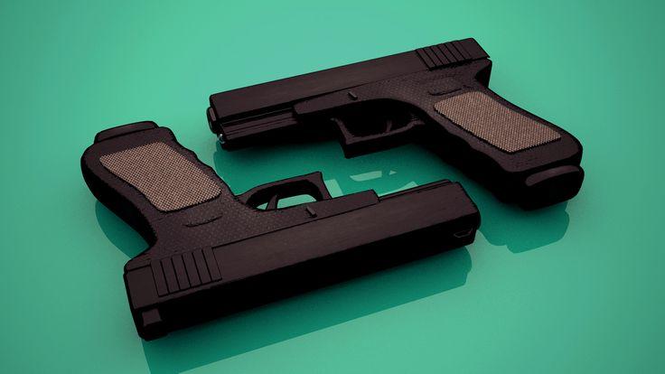 modelling handgun