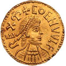 Gold mancus of Coenwulf. Kingdom of Mercia, England, 796-821 AD www.britishmuseum.org/explore/highlights/highlight_objects/cm/g/gold_mancus_of_coenwulf.aspx
