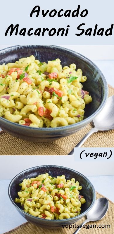 Avocado Macaroni Salad | yupitsvegan.com. Light, refreshing vegan macaroni salad with a healthy avocado-based dressing.