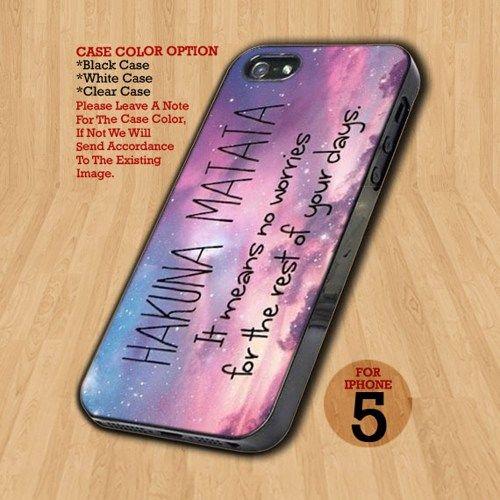 Hakuna Matata Quotes - Design on Hard Case For iPhone 5 Case
