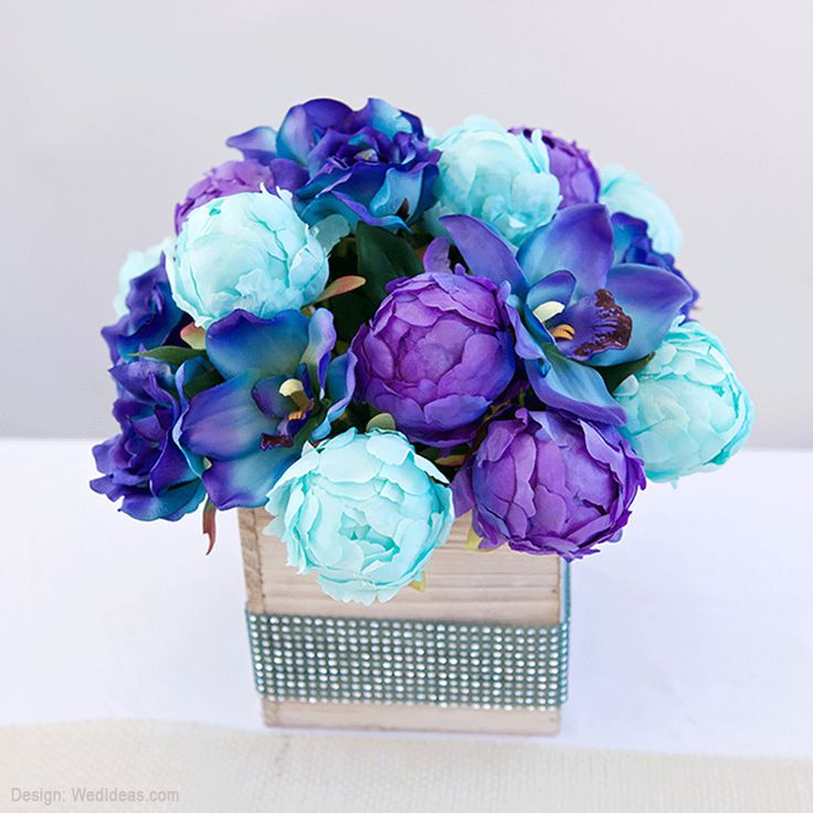 Silk Blue Flowers Such As This Cymbidium Orchid Flower In Shades Of Bold And Purple