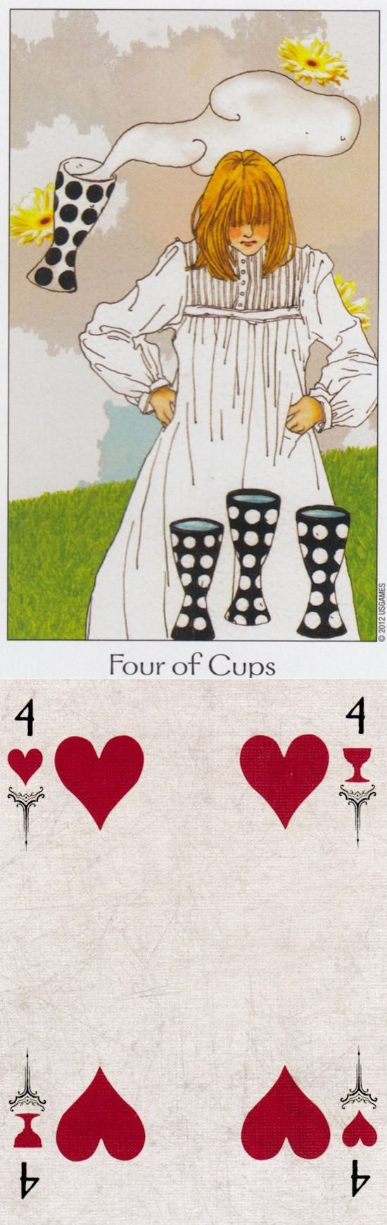 Four of Cups: apathy and aloofness (reverse). Dreaming Way Tarot deck and Arcana Tarot Tarot deck: free angel card reading yes or no, parrot reading vs single card tarot. The best tarot reading for beginners and tarot decks for sale. #oldways #spells #iosapplication #selfempowerment #halloween #tarotcardsforbeginners
