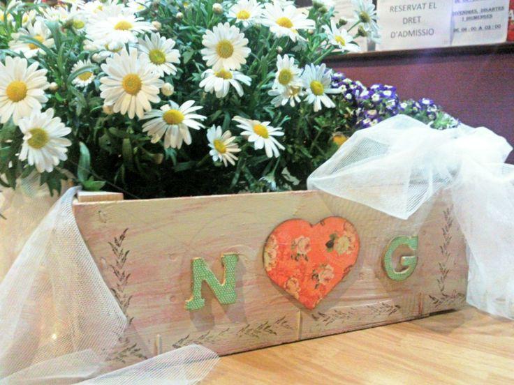 Caja de frutas decorada decoraci n para bodas - Decoracion cajas de fruta ...