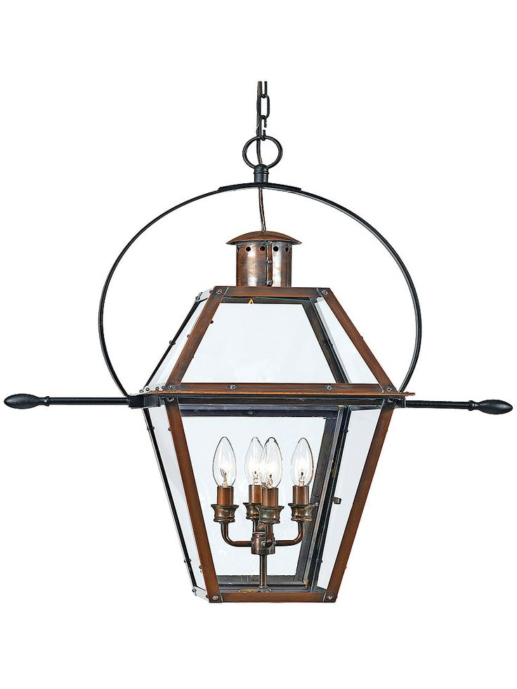 Rue De Royal Extra Large Hanging Lantern In Aged Copper
