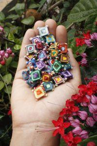 Ojo de Dios Mandalas - in miniature