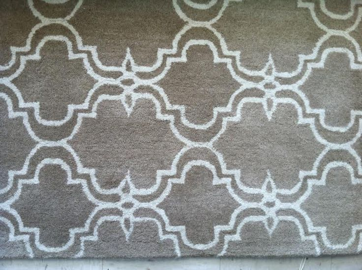 Pottery Barn Scroll Tile Area Rug 8x10 New Mocha