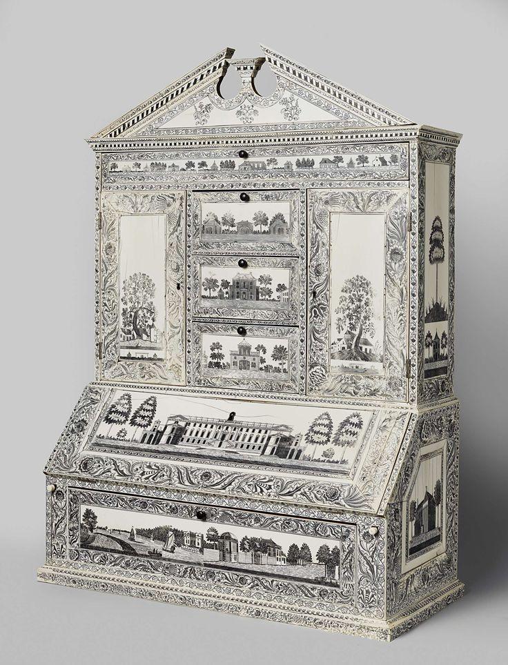 Schrijfkabinet van Gouverneur Janssens, anoniem, c. 1790
