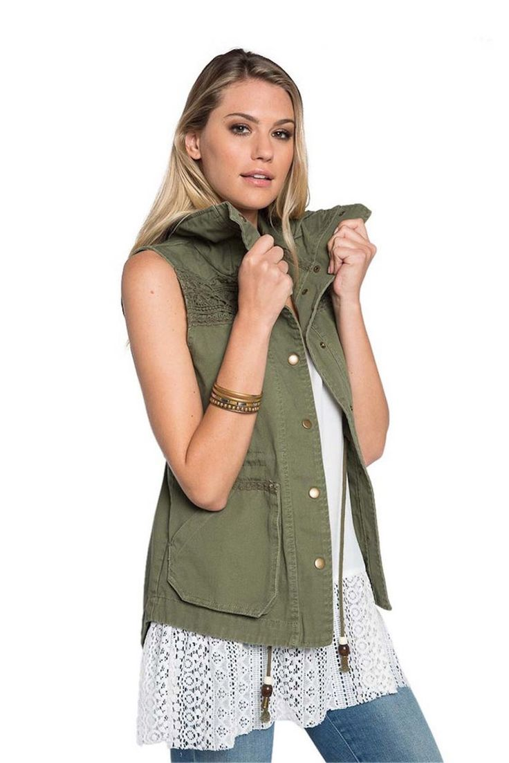 This is the essential wardrobe piece for layering! Throw this on with any tee or tank - this Military Green Cargo Vest from Dylan will be your favorite Go-To piece | Shop this product here: http://spreesy.com/ArabellaBoutique/17 | Shop all of our products at http://spreesy.com/ArabellaBoutique    | Pinterest selling powered by Spreesy.com