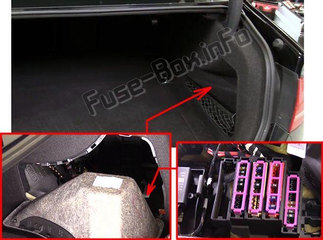 audi a4/s4 (b8/8k; 2008, 2009, 2010, 2011, 2012, 2013, 2014, 2015, 2016) fuse  box location | audi a4, audi, fuse box  pinterest