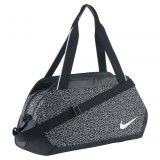 VERSATILE STORAGE The Nike Legend Club Print Women's Training Duffel Bagis made with multiple pockets and durable, water-repellent fabric to offer several storage opti