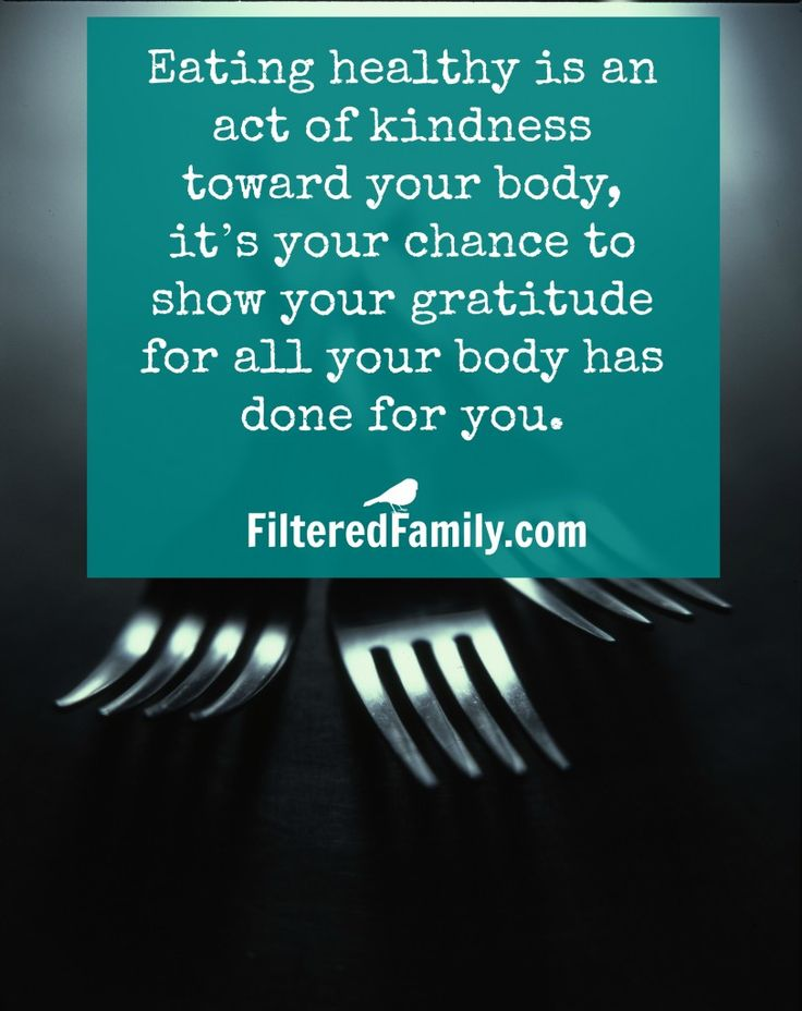 Love your body back! -- Quote: Healthy Eating Quote | via FilteredFamily.com