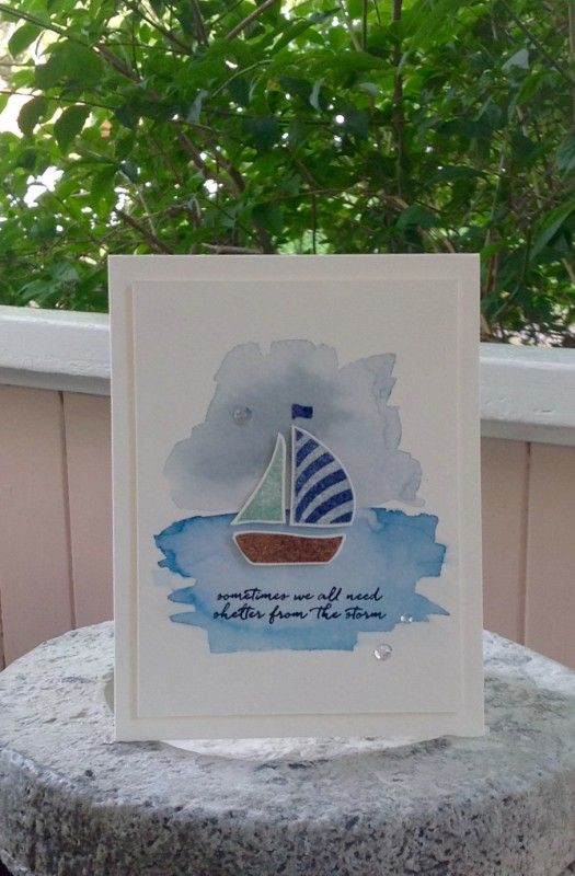For today's CAS challenge to create a get well or encouragement card. I CASE'd…
