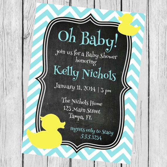 Baby Shower Invitation Rubber Ducky by CarouselPrintables on Etsy, $12.00