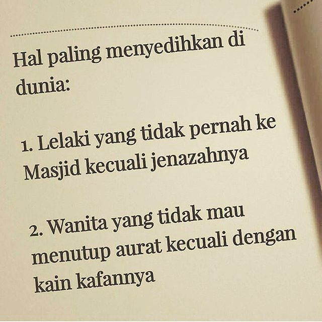Semoga kita terus memperbaiki diri dan meningkatka keimanan kepada Allah... .  Follow @IndonesiaMenutupAurat  Follow @IndonesiaMenutupAurat  Follow @IndonesiaMenutupAurat
