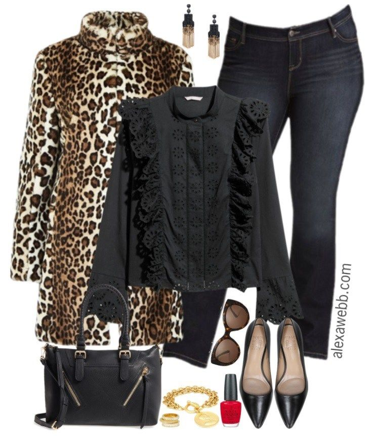 Plus Size Leopard Coat Outfit - Plus Size Winter Outfit Idea - Plus Size Fashion for Women - alexawebb.com #alexawebb #plussize
