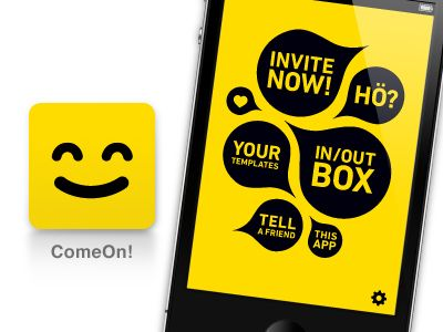 ComeOn! App Icon  by Till Könneker    -Yellow!  -thinking out of the box (ftw)