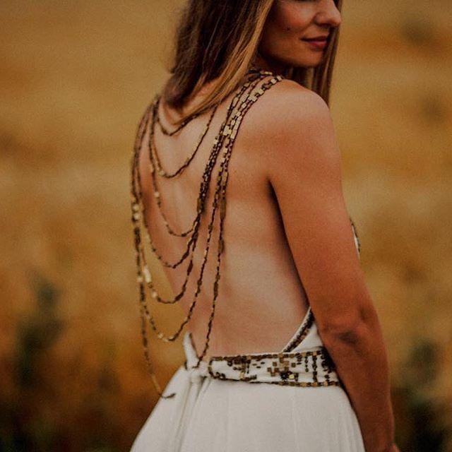 A dress as unique as their wedding.  #unique #weddinggown #bohemian #winnipegweddings #dress #lacdubonnetwedding www.blfstudios.com