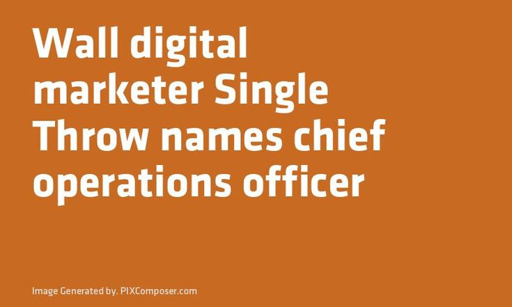 Wall digital #Marketer Single Throw names chief operations officer