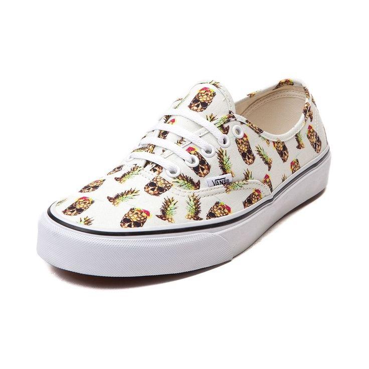 NEW Vans Authentic Pineapple Skulls Skate Shoe Mens Womens Print Colors