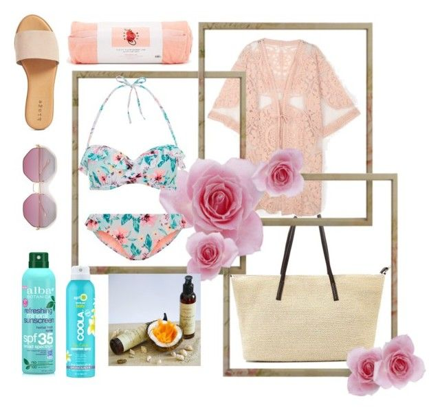 """""""To the beach"""" by spookie1 ❤ liked on Polyvore featuring Hinge, ban.do, COOLA Suncare and Alba Botanica"""