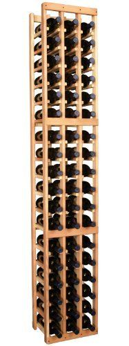 """Wooden 54 Bottle Standard Wine Cellar Storage Rack Kit (Ponderosa Pine) by Wine Racks America InstaCellar® Series. $175.54. Proudly Made in the USA. Lifetime Warranty.. Constructed of Furniture Grade Ponderosa Pine. Simple Assembly May be Required. With same day free shipping, this value can't be beat. Dimensions: 77 1/8""""(h) x 13 1/4""""(w) x 10 1/2""""(d). Capacity: 54 Wine Bottles and Fits all 750ml Bottles. Each wine cellar rack meets Wine Racks America's unparall..."""