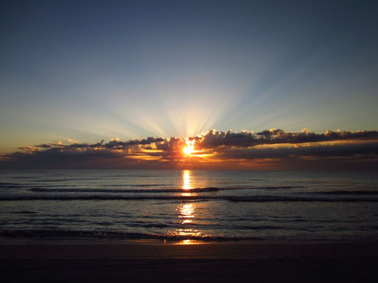 Beautiful sunrise in Tunisia