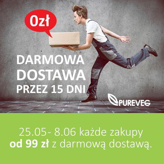 Zapraszamy na zakupy z darmową dostawą! Na zakupy tędy 👉 www.pureveg.pl #sklepweganski #pureveg #bezpłatnadostawa #weganskie #govegan