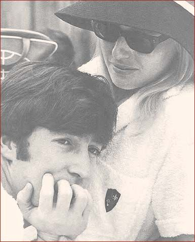 8: Quiet Time #2: The Lennons (John and Cynthia) enjoy a quiet , intimate moment aboard a boat in Miami, February 1964. At the height of worldwide Beatlemania, it appears that John Lennon's mind was completely adrift somewhere else, despite the whirlwind of media madness that was surrounding him.