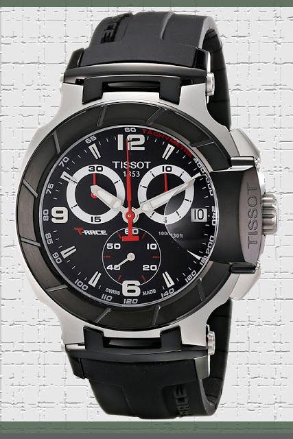 Tissot Men's T0484172705700 T-Race Black Chronograph Dial Watch Price:     $395.23 & FREE Returns  #LuxuryTissotWatches #TissotWatches #LuxuryWatches #MensWatches