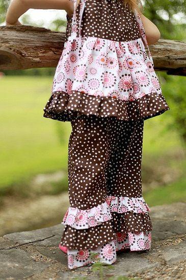 Ruffle Pants Pattern Sewing Pattern for Girl's Ruffle